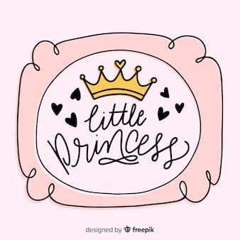 Kalligrafische roze prinses achtergrond