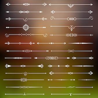Kalligrafische scheidingslijnen en pagina-decor