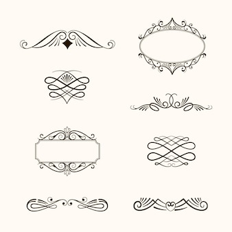 Kalligrafische sierelementcollectie