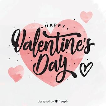 Kalligrafische valentijnsdag achtergrond