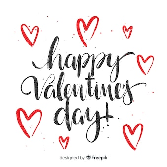 Kalligrafische valentijnskaartachtergrond