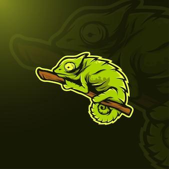 Kameleon illustratie Premium Vector