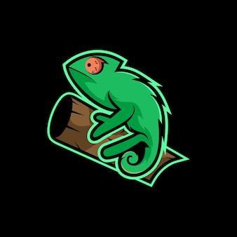 Kameleon karakter illustratie