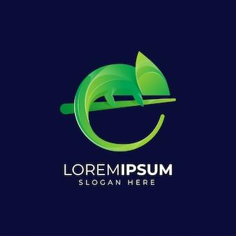 Kameleon logo ontwerp premium print