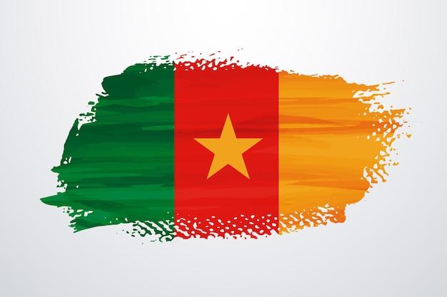 Kameroen penseel verf vlag