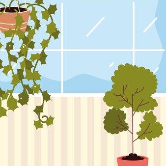 Kamerplanten natuur tuin