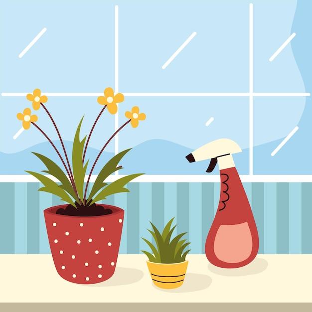 Kamerplanten verzorgen met water