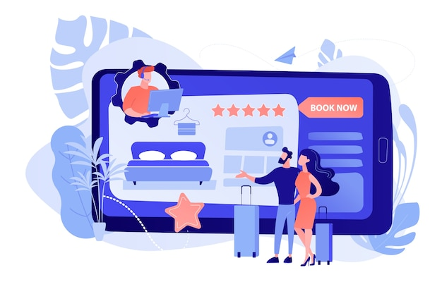 Kamerreservering online klantenservice, overleg. virtuele receptie