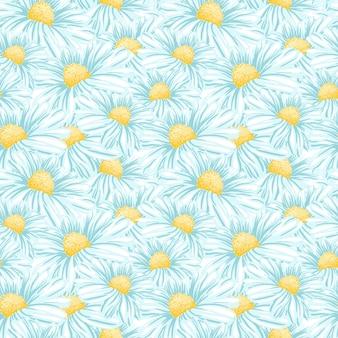 Kamille of daisy naadloos patroon