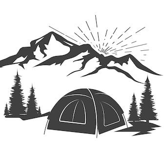 Kampelement vector pictogram ontwerp illustratie template