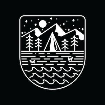 Kamperen wandelen klimmen natuur avontuur grafische illustratie kunst t-shirt