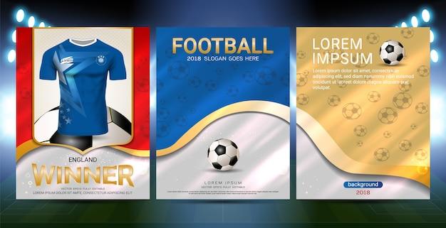 Kampioenen zijn het winnaars concept, sport poster template