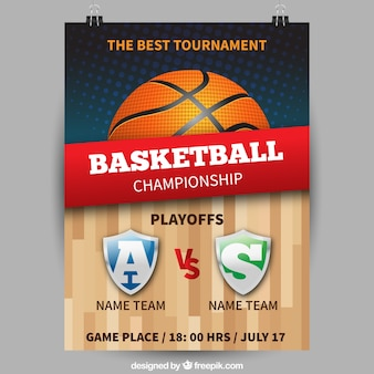 Kampioenschap basketbal poster