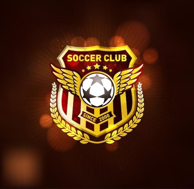 Kampioenschap voetbal winnaar gouden embleem