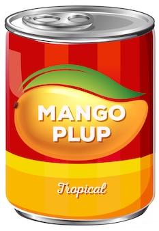 Kan van tropische mango plup
