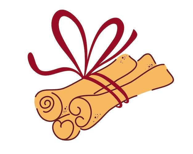 Kaneelstokjes. aromatische kruiden of kruidige voedselspecerijen die in culinair worden gebruikt. bos van kaneel.
