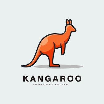 Kangoeroe abstracte logo ontwerp vector egale kleur