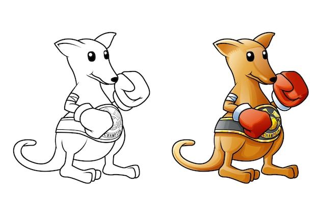 Kangoeroe cartoon kleurplaat