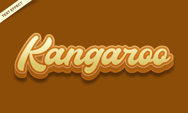 Kangoeroe huidskleur teksteffect ontwerp