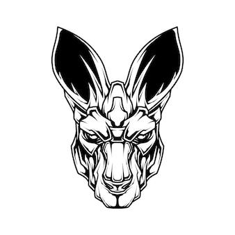Kangoeroe lijntekeningen illustratie