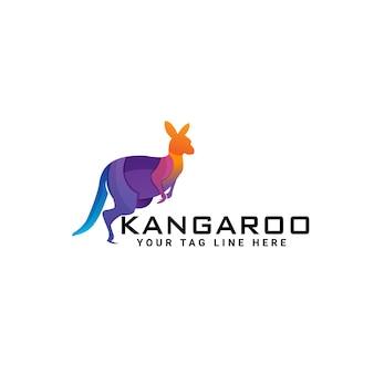 Kangoeroe logo ontwerpsjabloon