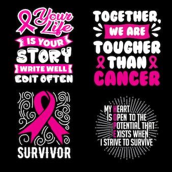 Kanker citaat en gezegde set