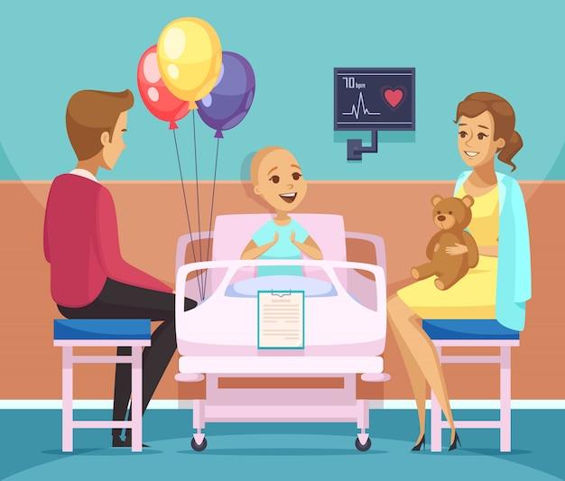 Kankerpatiënt illustratie