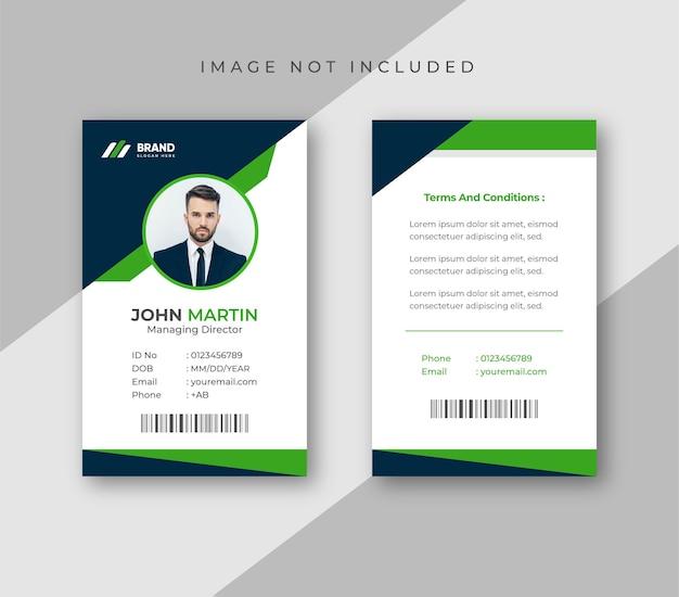 Kantoor-id-kaartsjabloon kleurrijk en creatief ontwerp