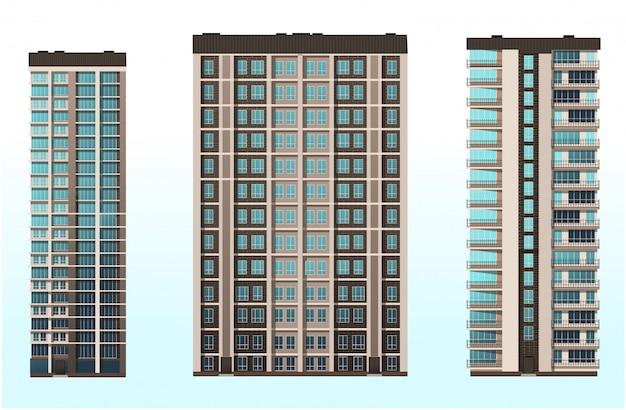 Kantoor, thuis, winkelcentrum de architectuur van de gebouwen