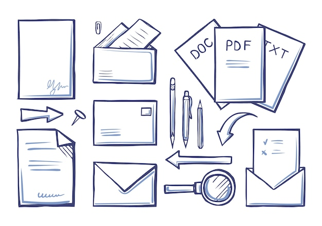 Kantoorbenodigdheden papers en documenten set