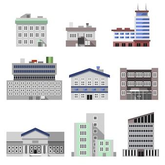 Kantoorgebouwen plat