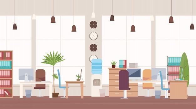 Kantoorinterieur en werkruimte