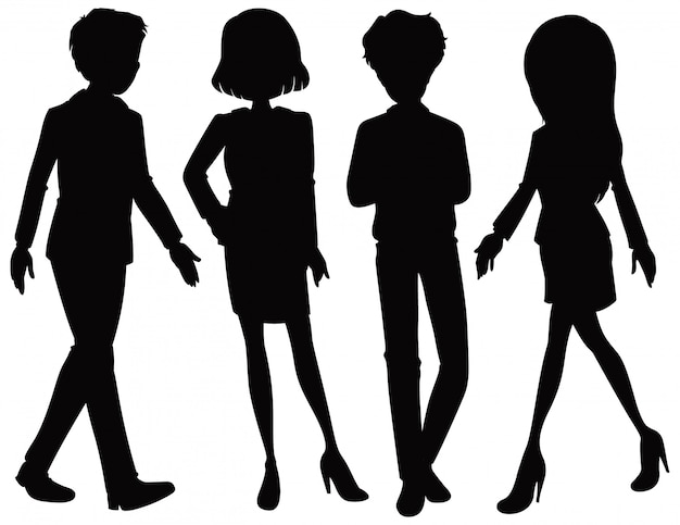 Kantoormedewerker silhouet karakter