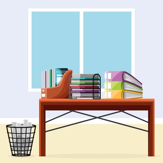 Kantoorpapieren en mappen