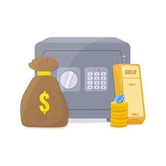 Kapitaal, sparen geldconcept.