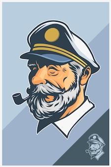 Kapitein mascotte ontwerp