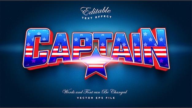 Kapitein teksteffect