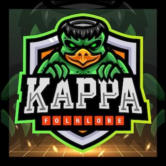 Kappa folklore mascotte esport logo ontwerp