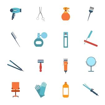 Kapper items ontwerp