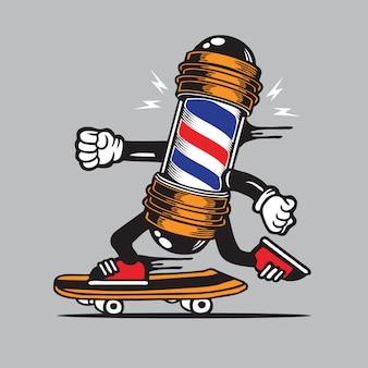 Kapper paal teken skate skateboard characterdesign