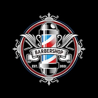 Kapper vintage logo ontwerp