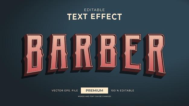 Kapper vintage stijl bewerkbare teksteffecten