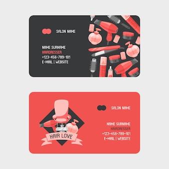 Kappersgereedschap professionele visitekaartjes voor visitekaartjes