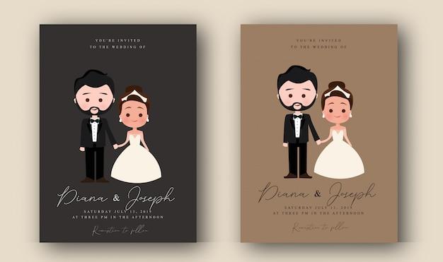 Karakter bruiloft uitnodiging