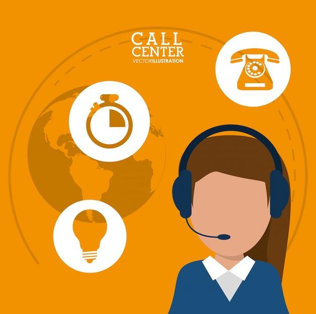 Karakter call center headset-ondersteuning