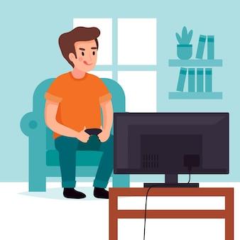 Karakter dat een videogame speelt