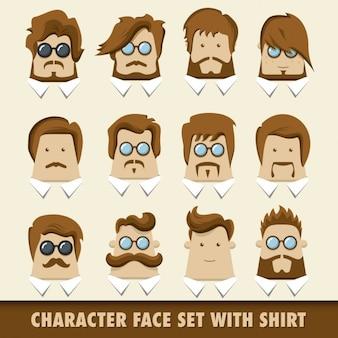 Karakter gezicht set