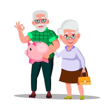 Karakter man en vrouw met pensioenbesparing