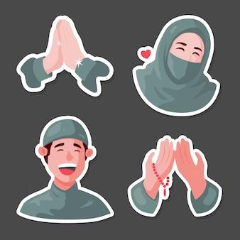 Karakter moslim sticker