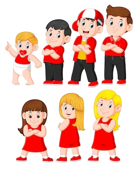 Karakter van man en vrouw in verschillende leeftijden
